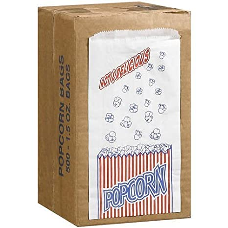 Great Northern Popcorn Company 1-1/2-Ounce Duro Bag Popcorn Bags,
